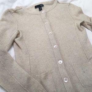 Oatmeal 100% cashmere sweater from Aqua